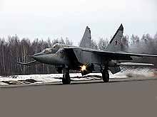 MiG-25 high-altitude fighter interceptor